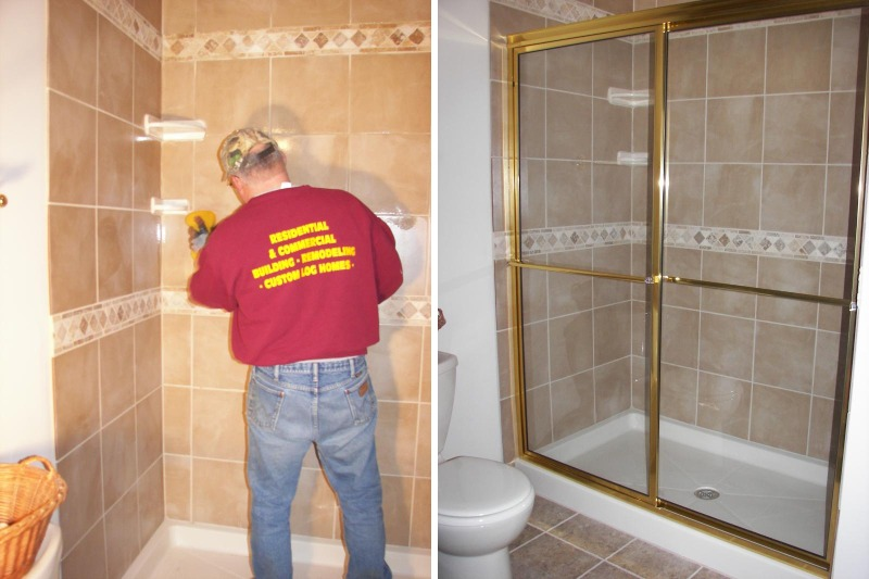 Double Shower Install