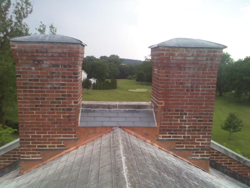 Chimney restoration - New Windsor State Bank, Taneytown, MD