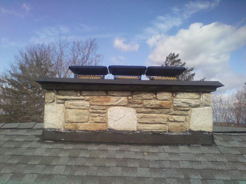 INSTALLATION OF CHIMNEY CAPS - FIREPLACE APPLICATION INTERIOR STICKY STONE-1