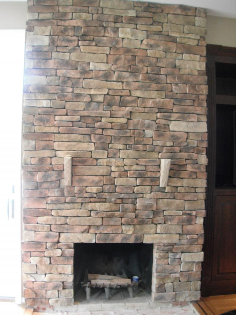 INSTALLATION OF CHIMNEY CAPS - FIREPLACE APPLICATION INTERIOR STICKY STONE