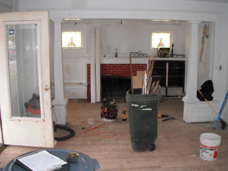 Interior Repairs & Lead Paint Removal - Before