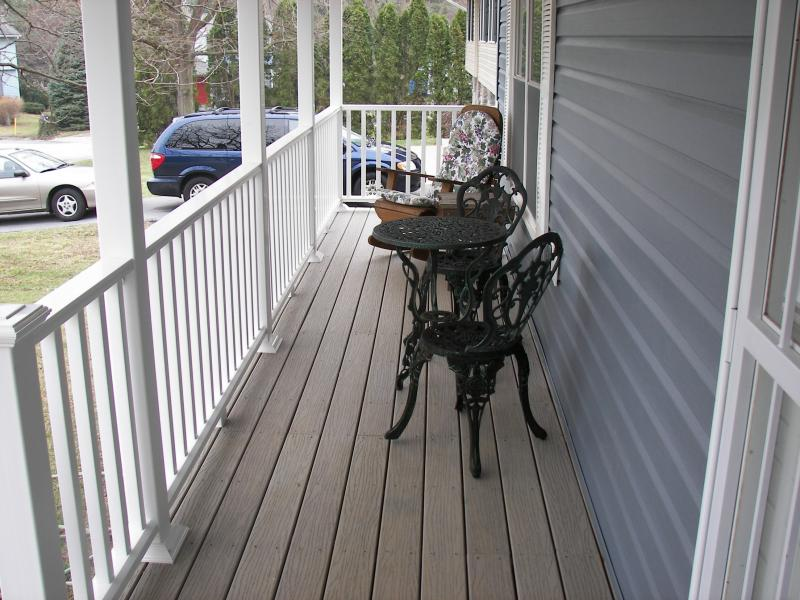 All new porch, decking & railings